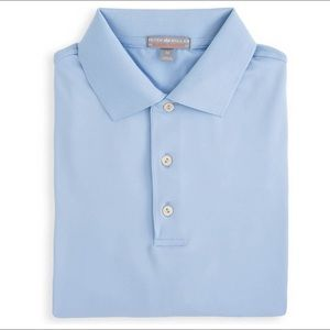 Peter Millar   Stretch Jersey Golf Polo Blue Large